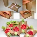 Feito de rolinhos de papel higienico. Pode ser usado para lembrancinhas em geral.