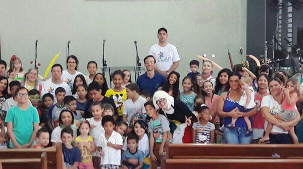 Programação infantil na igreja de Rio Preto